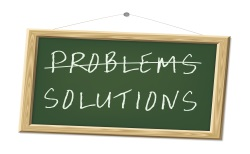 Problems/Solutions chalkboard